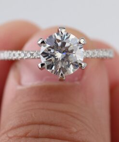 2ct Round Moissanite Engagement Ring South Africa