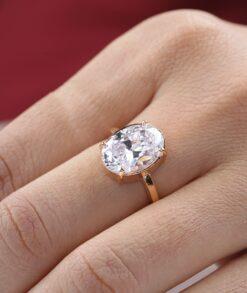 Oval Bezel Engagement Ring