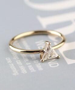 Bezel setting 5x5mm triangle cut moissanite ring south africa