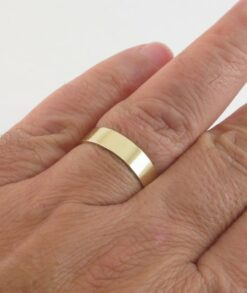 Gold 5mm Plain Wedding Band South Africa