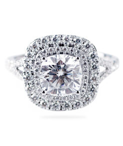 Double Halo Moissanite Engagement Ring South Africa