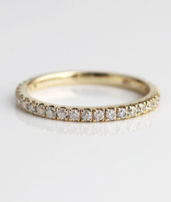 2mm Ye2mm Pave Moissanite Eternity Band South Africallow Gold Pavé Moissanite Eternity Band