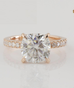 Round Moissanite Solitaire With Side Accents Bridal Set South Africa