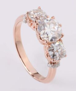 7x7mm Moissanite Trilogy Engagement Ring South Africa