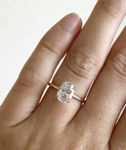 2ct Oval Moissanite Engagement Ring South Africa