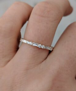 Baguette & Double Round Moissanite Eternity Band South Africa