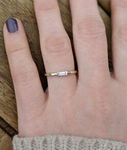 Baguette Moissanite Engagement Ring East West Setting South Africa