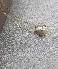 Round Moissanite Bezel Necklace South Africa