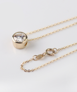 Round Moissanite Necklace South Africa