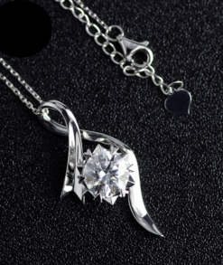 Round Crossover Moissanite Necklace South Africa