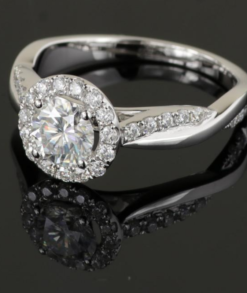 Round Moissanite Halo Ring South Africa