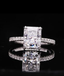 4ct Radiant Cut Moissanite Engagement Ring South Africa