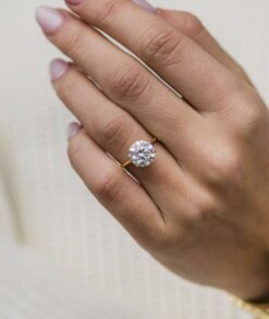 3.5ct Round Moissanite Engagement Ring South Africa