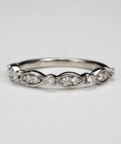 Marquise Round Moissanite Anniversary Ring South Africa