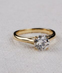 3ct Moissanite Cathedral Solitaire Engagement Ring South Africa