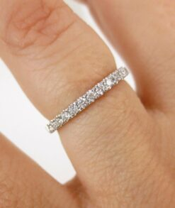 1.9mm Moissanite Half Eternity Band South Africa