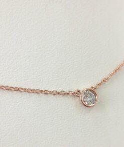 Rose Gold Moissanite Bezel Set Necklace South Africa
