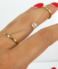 9ct Gold Moissanite Slave Ring South Africa