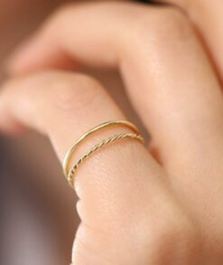 Gold Twist Rope Wedding Band 1mm South Africa