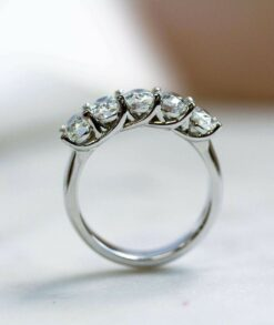 Five Stone Oval Moissanite Wedding Band South Africa
