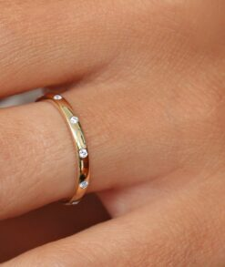 Burnish Set Moissanite Wedding Ring South Africa