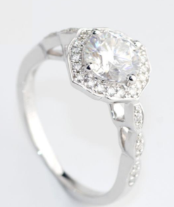 2ct Moissanite Art Deco Halo Engagement Ring South Africa