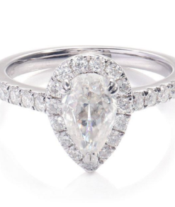 Pear Cut Moissanite Halo Ring South Africa
