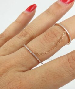 Pave Moissanite Gold Slave Ring South Africa