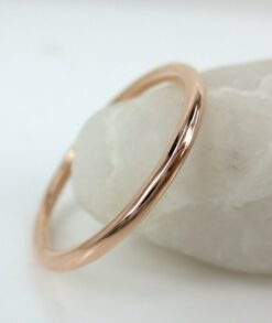 1.3mm Solid 14ct Rose Gold Wedding Band South Africa