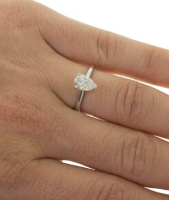 Pear Solitaire Moissanite Ring South Africa
