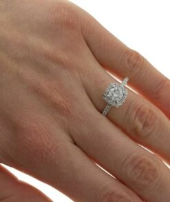 1ct Moissanite Halo Ring South Africa