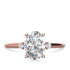 1.80ct Oval Moissanite Engagement Ring Rose gold South Africa