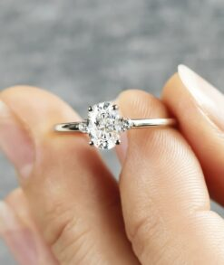 1.80ct Oval Moissanite Engagement Ring South Africa