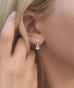Pear Moissanite Drop Earrings South Africa