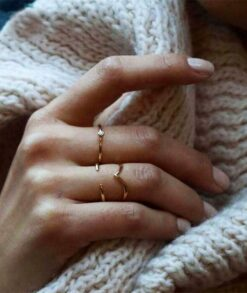 Gold Chevron Stacking Ring South Africa