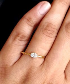 0.25ct Oval Moissanite Ring South Africa