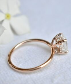 3.5ct Oval Moissanite Rose Gold Ring South Africa