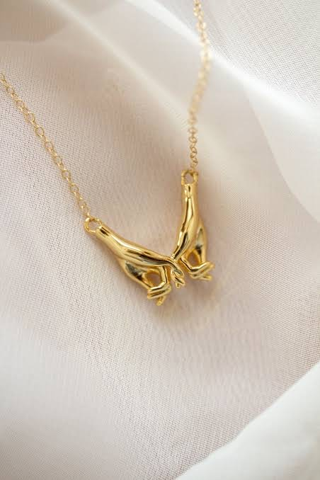 Gold Pinky Promise Necklace