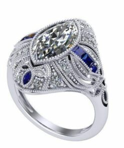 Antique Style Marquise Moissanite Ring South Africa