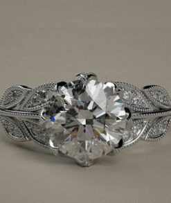 Moissanite Leaf Design Ring South Africa