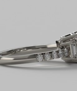 Emerald Cut Trilogy Ring South Africa