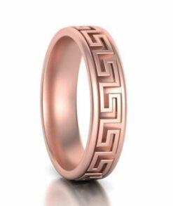 Gold Meander Wedding Ring