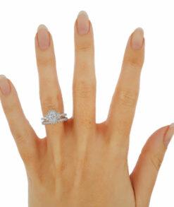 Oval  Wedding Ring Set