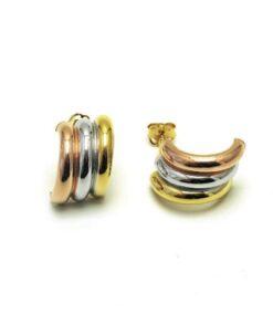 Gold Triple Hoop Earrings South Africa