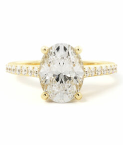 oval side stone engagement ring South africa