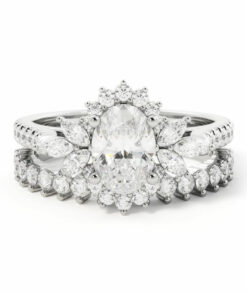 Oval  Wedding Ring Set South Africa